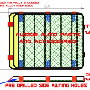 Fully Enclosed Steel Roof Rack Cage 1650x1250x160mm