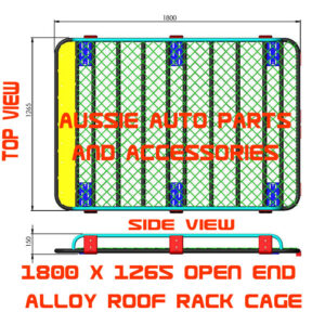 Tradesman Style open ends Alloy cage 1800x1265mm