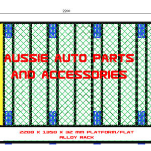 Platform Flat alloy 2200x1350mm Roof Rack