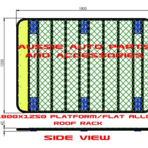 Platform Flat Roof rack Alloy 1800x1250mm