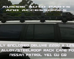 Fully enclosed Alloy cage 2200x1250mm for Nissan Patrol GU,GQ