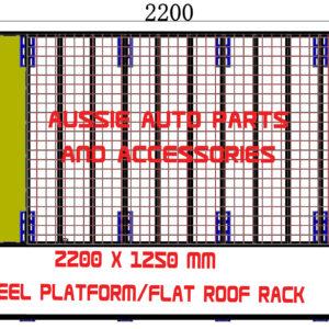 Platform /Flat Steel Roof rack 2200x1250 x35mm