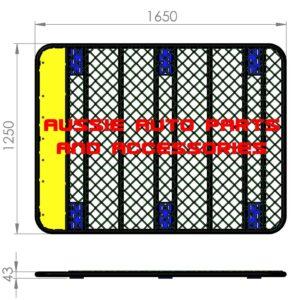 Platform Flat alloy 1650x1250mm Roof Rack
