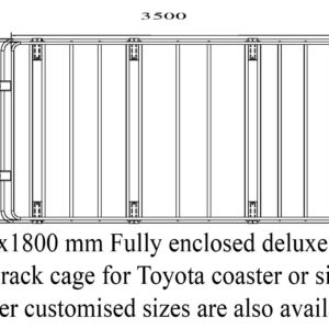 Fully Enclosed Alloy cage roof rack 3500x1800mm