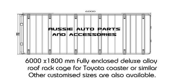 Fully Enclosed Alloy cage roof rack 6000x1800mm